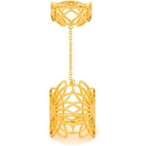 Gorjana Gold Filigree Ojai Cage Ring to Midi 8